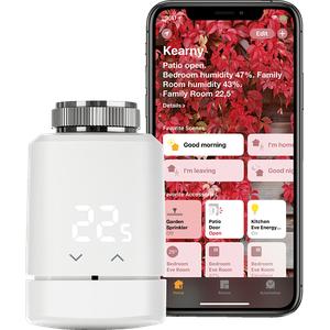 EVE Eve Thermo - Smartes Heizkörperthermostat, autonome Zeitpläne, Apple HomeKit, Bluetooth, Thread Weiß
