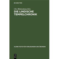 Die Lindische Tempelchronik als Buch von