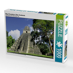 Maya Pyramide in Tikal, Guatemala Lege-Größe 64 x 48 cm Foto-Puzzle Bild von Rick Astor Puzzle