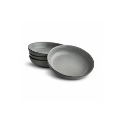 Springlane Kombiservice Grau, Steingut, Suppenteller 4er-Set grau