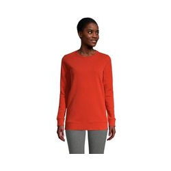 Sweatshirt, Damen, Größe: M Normal, Orange, Jersey, by Lands' End, Dunkel Zedernholz - M - Dunkel Zedernholz