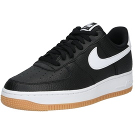 Nike Men's Air Force 1 '07 black-white/ white-gum, 45