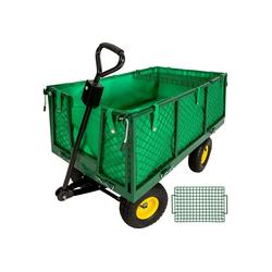 tectake Bollerwagen Bollerwagen mit Ablage max. 550kg