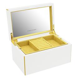 Friedrich|23  Keep Calm Schmuckkoffer klein aus Holz - Weiß