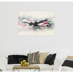Posterlounge Wandbild, Emirates A380 150 cm x 100 cm