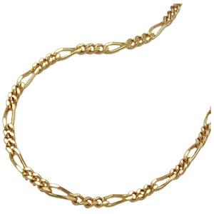 Gallay Goldkette Kette 42cm Figarokette diamantiert 14Kt GOLD (inkl. Schmuckbox), Goldschmuck für Damen