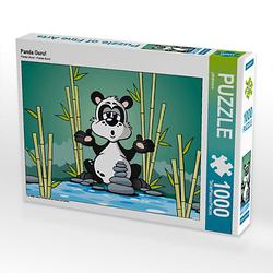 Panda Guru! Lege-Größe 64 x 48 cm Foto-Puzzle Bild von jokatoons Puzzle