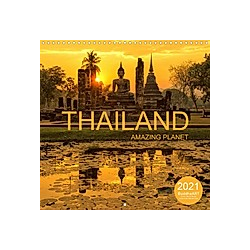 THAILAND - Amazing Planet (Wall Calendar 2021 300 × 300 mm Square)