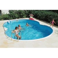 CLEAR POOL Achtformbecken-Set Standard 470 x 300 x 90 cm