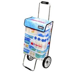 james Einkaufstrolley Design TUPPERWARE deluxe, Einkaufsbegleiter mit hoher Stabilität - sehr robust - 2-fach faltbar - Fassungsvermögen: 40 L - Tragkraft: 40 kg - Tasche: 20 x 36 x 55 cm
