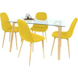 Essgruppe, (Set, 5-tlg) gelb