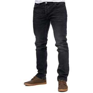 Reslad Stretch-Jeans Reslad Jeans-Herren Slim Fit Basic Style Stretch-D Stretch Jeans-Hose Slim Fit schwarz 36
