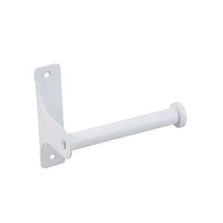 SOSmart24 Toilettenpapierhalter Toilettenpapierhalter Weiß Matt aus Metall - Klopapierhalter für Bad und WC