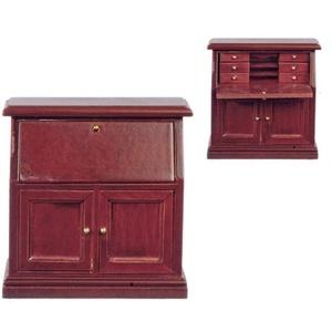 Melody Jane Puppenhaus Mahagoni Sekretär Schreibtisch Miniatur Möbel