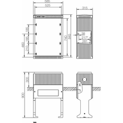 ABN Braun Hochwassersockel Gr.0 FB2 Höhe 1125mm SX030