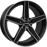 AUTEC Delano schwarz matt poliert 8x19 ET45 - LK5/108 ML70 Alufelge schwarz