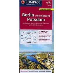 KOMPASS Fahrradkarte Berlin und Umgebung  Potsdam 1:70.000  FK 3342 - Buch