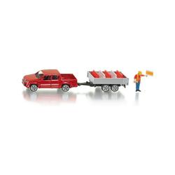 Siku Spielzeug-Auto SIKU 3543 Pick-Up mit Kippanhänger 1:55