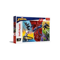 Trefl GmbH Puzzle Trefl 16347 - Marvel: Spiderman, 100 Teile Puzzle, 100 Puzzleteile