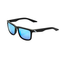 100% Sonnenbrille Blake Matte Black - Iceberg Blue Mirror/Hiper Lens