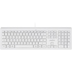 Perixx PERIBOARD-323M W DE Funk Tastatur Englisch, QWERTY Weiß