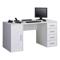 PC Schreibtisch in Weiß 150 cm Breite