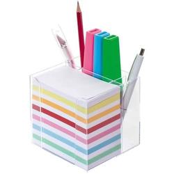 Zettelbox Kunststoff transparent 700 Blatt 5,5x9cm transparent