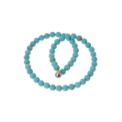 Bella Carina Perlenkette Türkis 8 mm Perlen, Magnetverschluss 50 cm