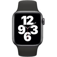 Apple Watch SE GPS + Cellular 40 mm Aluminiumgehäuse space grau, Sportarmband schwarz