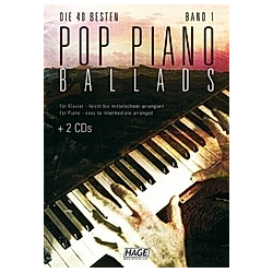 Pop Piano Ballads 1 (mit CD + Midifiles  USB-Stick) - Buch