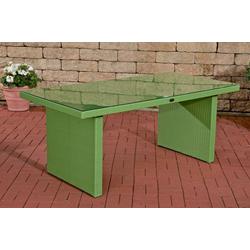 CLP Gartentisch Avignon, aus Polyrattan geflochten grün