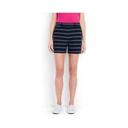 Shorts mit Dobby-Struktur, Damen, Größe: L Normal, Blau, Leinen, by Lands' End, Marine Dobby Streifen - L - Marine Dobby Streifen