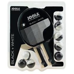 JOOLA Tischtennisschläger-Set BLACK+WHITE