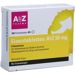 EISENTABLETTEN AbZ 50 mg Filmtabletten 100 St
