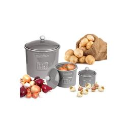 BigDean Gemüsetopf 3er Set Toskana aus Kartoffeltopf, Knoblauchtopf & Zwiebeltopf