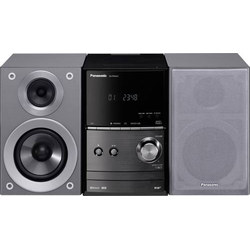 Panasonic SC-PM602EG-S Stereoanlage Bluetooth®, DAB+, CD, UKW, USB, 2 x 20W Silber