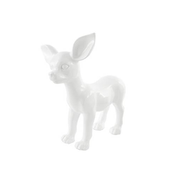 Skulptur Chihuahua 120 Weiß