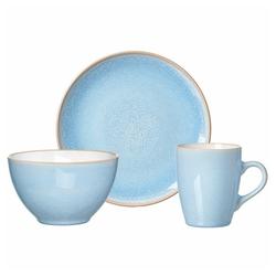 Ritzenhoff & Breker Frühstücks-Geschirrset Nancy Blau (3-tlg), Porzellan blau
