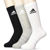 adidas 3 Paar Cushion Crew Socken, Medium Grey Heather/Black, XL