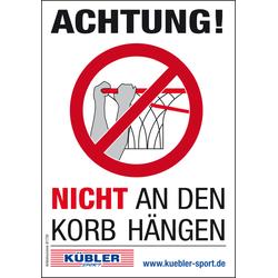Verbotsaufkleber - Nicht an den Korb hängen