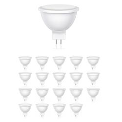 GU5.3 LED Leuchtmittel MR16 5.2W =37W 400lm 100° weiß, 20 Stk.
