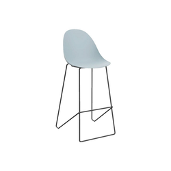 PAPERFLOW Barhocker Void (2er-Set), mit fester Sitzschale blau