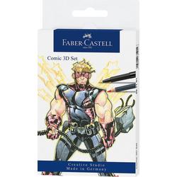 Faber-Castell Dekorierstift Pitt Artist Pen Comic-3D-Set, 11-tlg.