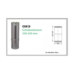023/DN160 DW6 Schiebeelement 350 mm - 530 mm