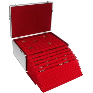 SAFE Schwbische Albumfab Münzen-Koffer GIGANT: Münzkoffer mit 15 Einsätzen für über 500 St. Verschiedene Münzen