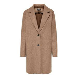 ONLY Einfarbiger Mantel Damen Beige Female L