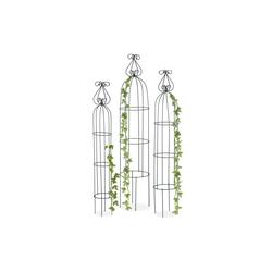 relaxdays Rankhilfe Rankhilfe Obelisk 3er Set