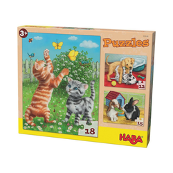 Haba Puzzle Puzzles - 12/15/18 Teile - Haustiere, Puzzleteile