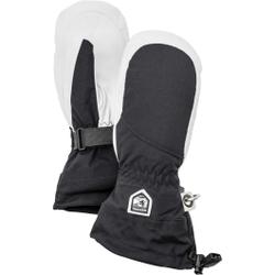 Hestra - Heli Ski W Mitt Black/Off White - Skihandschuhe - Größe: 9
