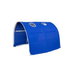 Homestyle4u Betttunnel, Tunnel Zelt Bettzelt Bettdach Spieltunnel blau